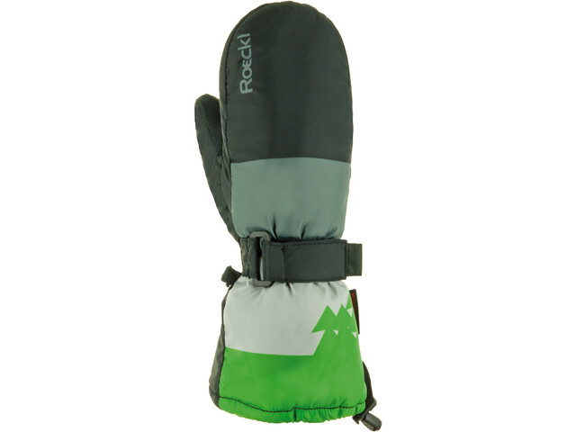 Roeckl Arlberg Hanskat Lapset, black/green